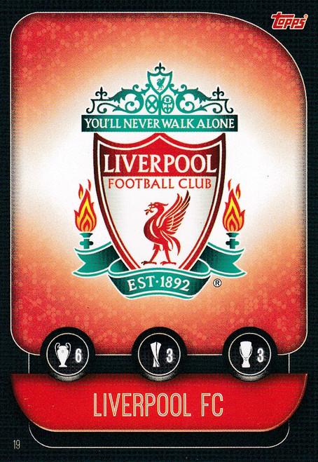 #19 Liverpool Team Badge Match Attax Champions League 2019/20