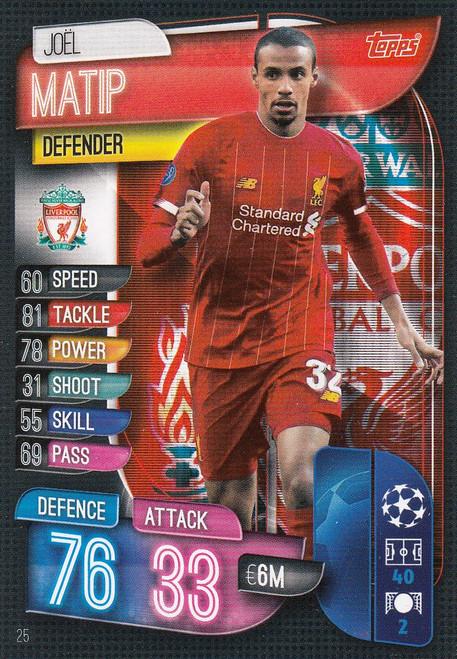 #25 Joel Matip (Liverpool) Match Attax Champions League 2019/20