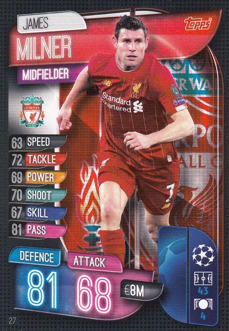 #27 James Milner (Liverpool) Match Attax Champions League 2019/20