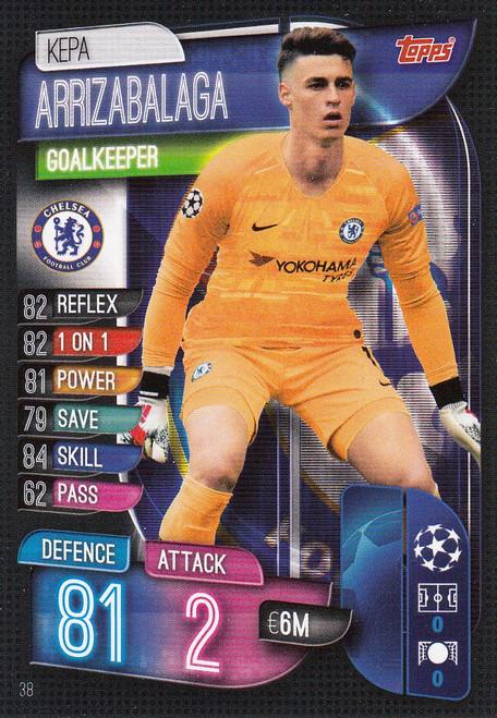 #38 Kepa Arrizabalaga (Chelsea) Match Attax Champions League 2019/20