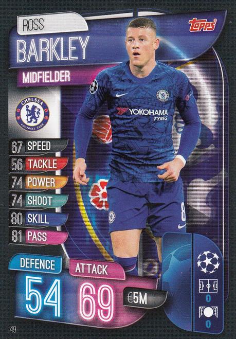 #49 Ross Barkley (Chelsea) Match Attax Champions League 2019/20