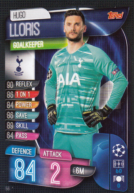 #56 Hugo Lloris (Tottenham Hotspur) Match Attax Champions League 2019/20