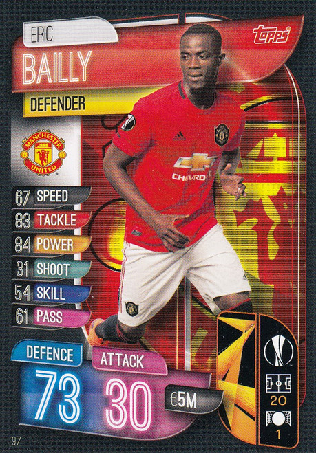 #97 Eric Bailly (Manchester United) Match Attax Champions League 2019/20