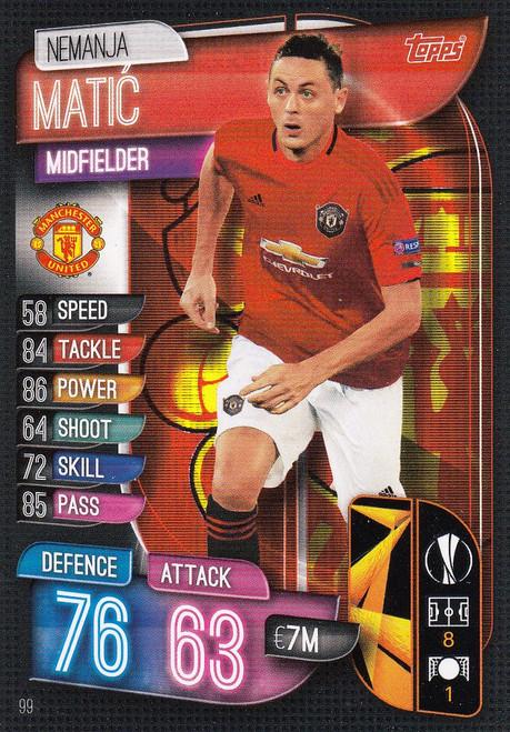 #99 Nemanja Matic (Manchester United) Match Attax Champions League 2019/20