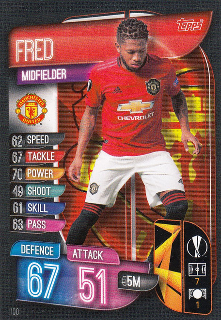 #100 Fred (Manchester United) Match Attax Champions League 2019/20