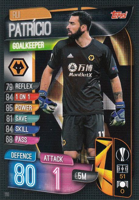 #110 Rui Patricio (Wolverhampton Wanderers) Match Attax Champions League 2019/20