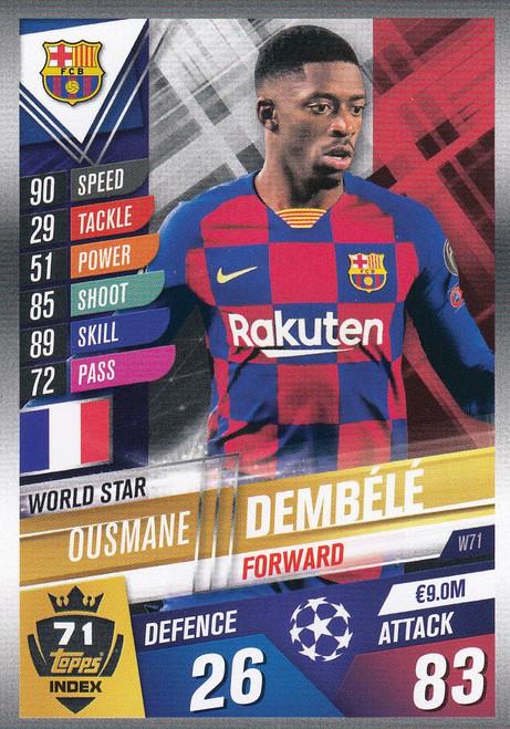 #W71 Ousmane Dembele (FC Barcelona) Match Attax 101 2019/20