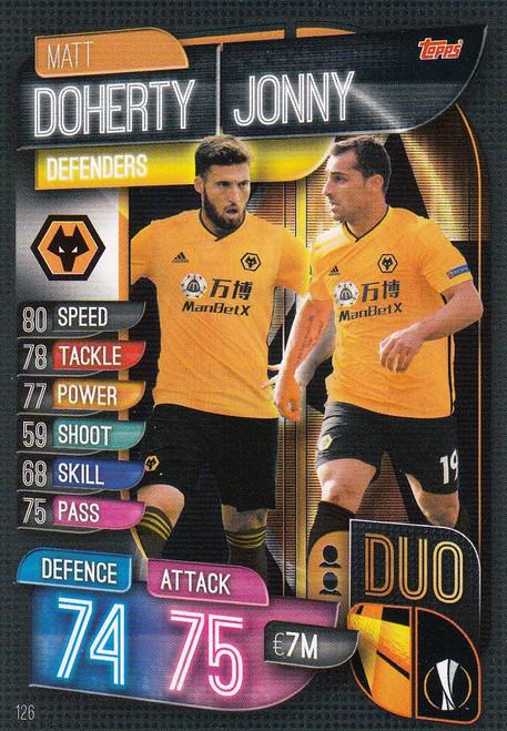 #126 Wolverhampton Wanderers Duo Match Attax Champions League 2019/20