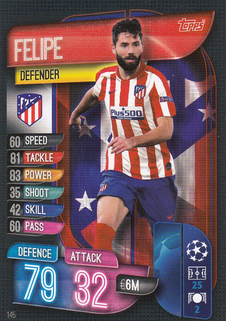 #145 Felipe (Club Atletico De Madrid) Match Attax Champions League 2019/20
