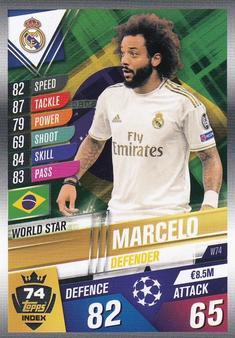 #W74 Marcelo (Real Madrid CF) Match Attax 101 2019/20