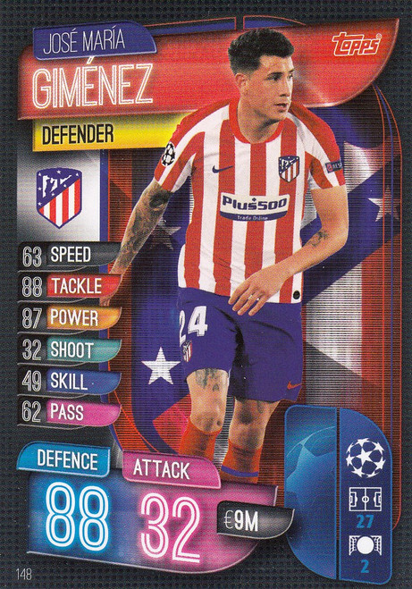 #148 Jose Maria Gimenez (Club Atletico De Madrid) Match Attax Champions League 2019/20