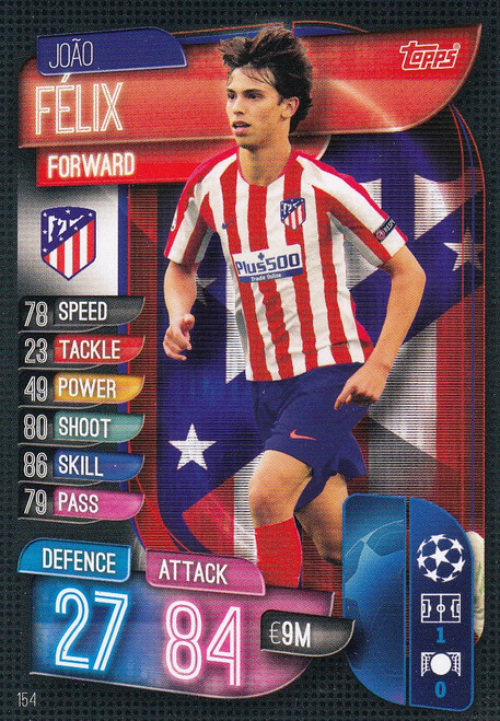 #154 Joao Felix (Club Atletico De Madrid) Match Attax Champions League 2019/20