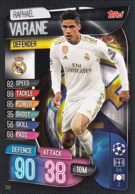#158 Raphael Varane (Real Madrid CF) Match Attax Champions League 2019/20