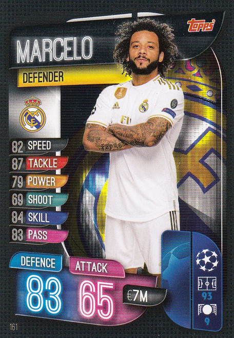#161 Marcelo (Real Madrid CF) Match Attax Champions League 2019/20
