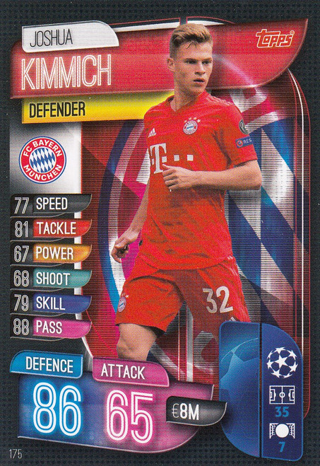 #175 Joshua Kimmich (FC Bayern Munchen) Match Attax Champions League 2019/20