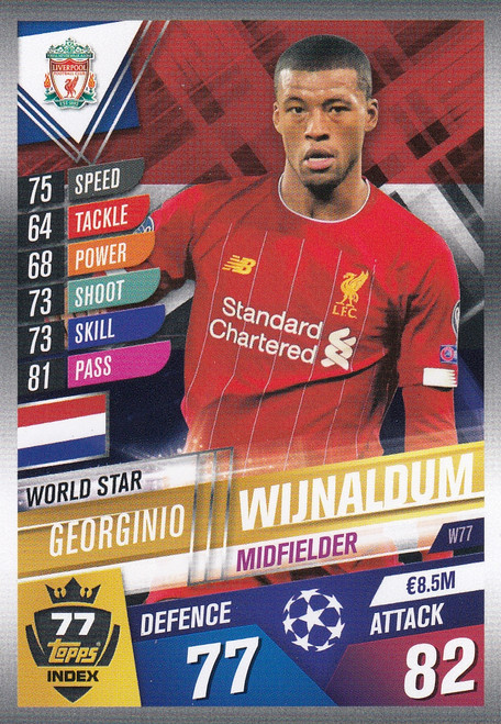 #W77 Georginio Wijnaldum (Liverpool FC) Match Attax 101 2019/20