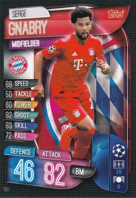 #180 Serge Gnabry (FC Bayern Munchen) Match Attax Champions League 2019/20