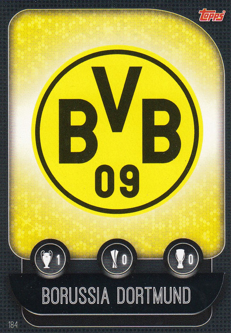 #184 Borussia Dortmund Team Badge Match Attax Champions League 2019/20