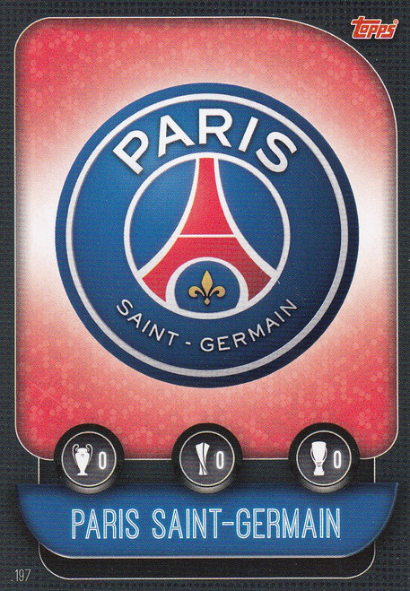 #197 Paris Saint-Germain Team Badge Match Attax Champions League 2019/20