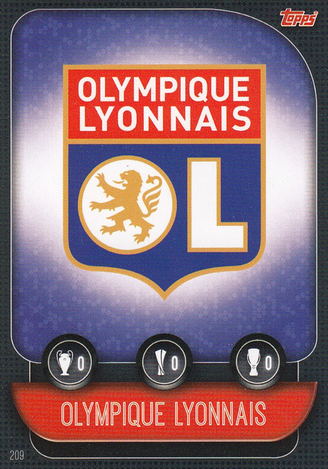#209 Olympique Lyonnais Team Badge Match Attax Champions League 2019/20