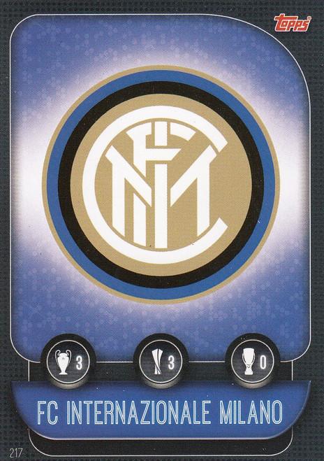 #217 FC Internazionale Milano Team Badge Match Attax Champions League 2019/20