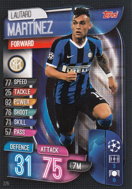 #225 Lautaro Martinez (FC Internazionale Milano) Match Attax Champions League 2019/20