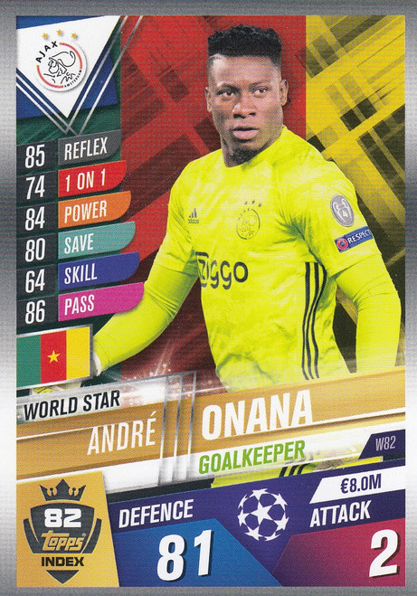 #W82 Andre Onana (AFC Ajax) Match Attax 101 2019/20