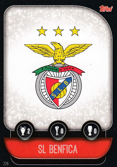 #226 SL Benfica Team Badge Match Attax Champions League 2019/20