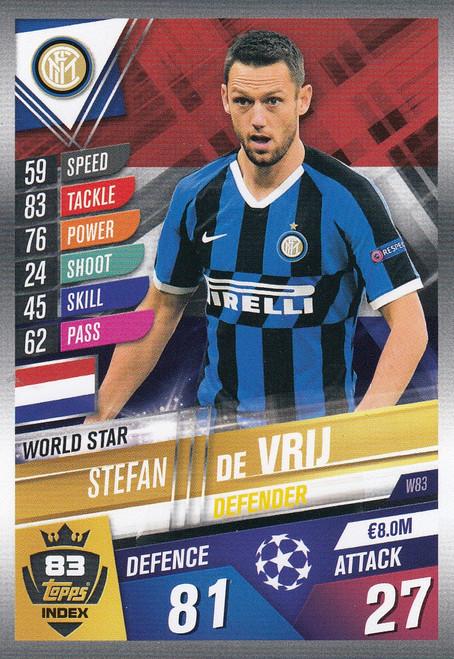 #W83 Stefan De Vrij (FC Internazionale Milano) Match Attax 101 2019/20