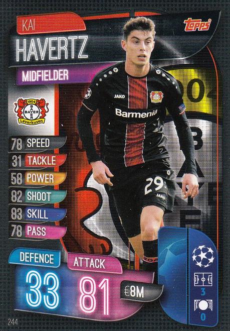 #244 Kai Havertz (Bayer 04 Leverkusen) Match Attax Champions League 2019/20