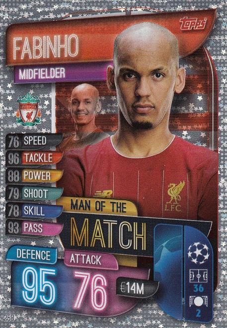 #258 Fabinho (Liverpool) Match Attax Champions League 2019/20 MAN OF THE MATCH