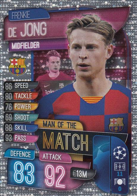 #264 Frenkie De Jong (FC Barcelona) Match Attax Champions League 2019/20 MAN OF THE MATCH