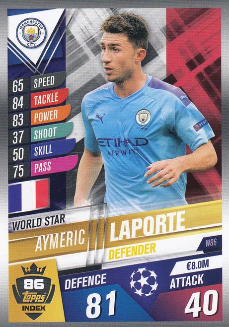 #W86 Aymeric Laporte (Manchester City) Match Attax 101 2019/20
