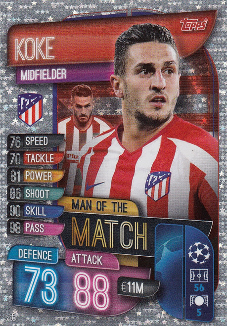 #266 Koke (Club Atletico De Madrid) Match Attax Champions League 2019/20 MAN OF THE MATCH