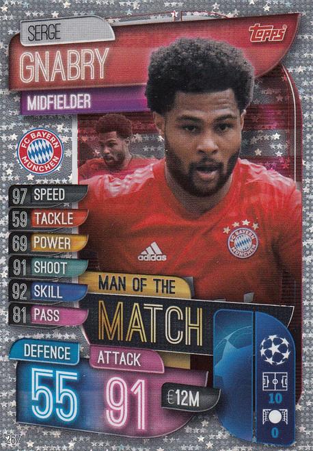 #267 Serge Gnabry (FC Bayern Munchen) Match Attax Champions League 2019/20 MAN OF THE MATCH
