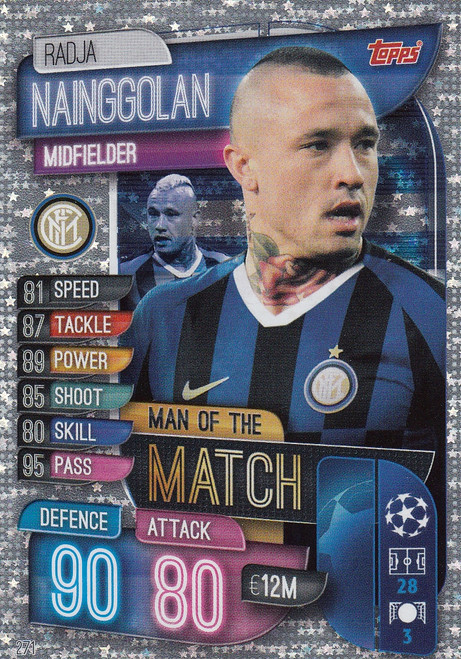 #271 Radja Nainggolan (FC Internazionale Milano) Match Attax Champions League 2019/20 MAN OF THE MATCH