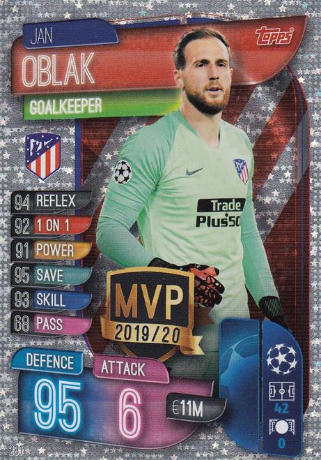 #281 Jan Oblak (Club Atletico De Madrid) Match Attax Champions League 2019/20 MVP