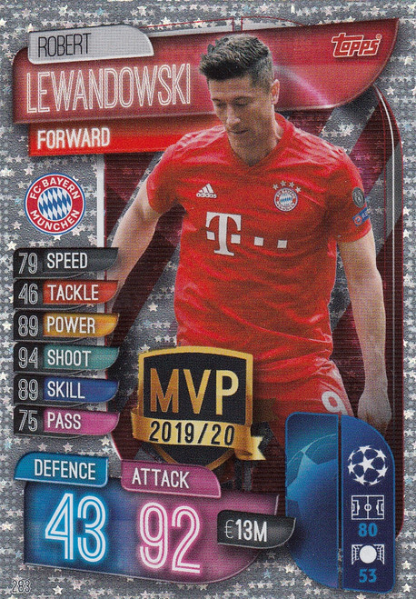 #283 Robert Lewandowski (FC Bayern Munchen) Match Attax Champions League 2019/20 MVP