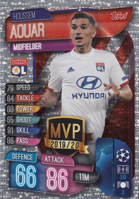#286 Houssem Aouar (Olympique Lyonnais) Match Attax Champions League 2019/20 MVP