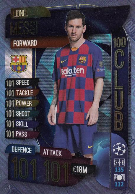 #331 Lionel Messi (FC Barcelona) Match Attax Champions League 2019/20 100 CLUB