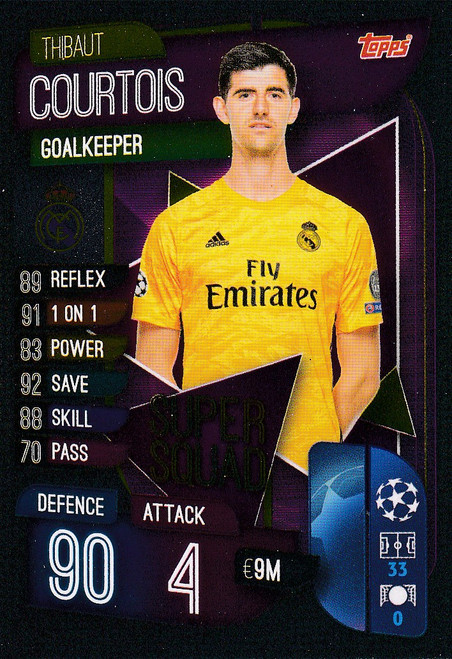 #SS1 Thibaut Courtois (Real Madrid CF) Match Attax Champions League 2019/20 SUPER SQUAD