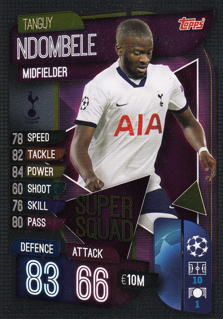 #SS9 Tanguy Ndombele (Tottenham Hotspur) Match Attax Champions League 2019/20 SUPER SQUAD