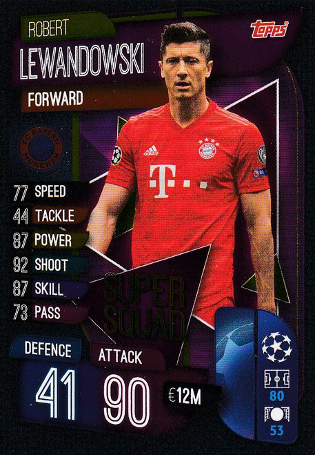 #SS12 Robert Lewandowski (FC Bayern Munchen) Match Attax Champions League 2019/20 SUPER SQUAD