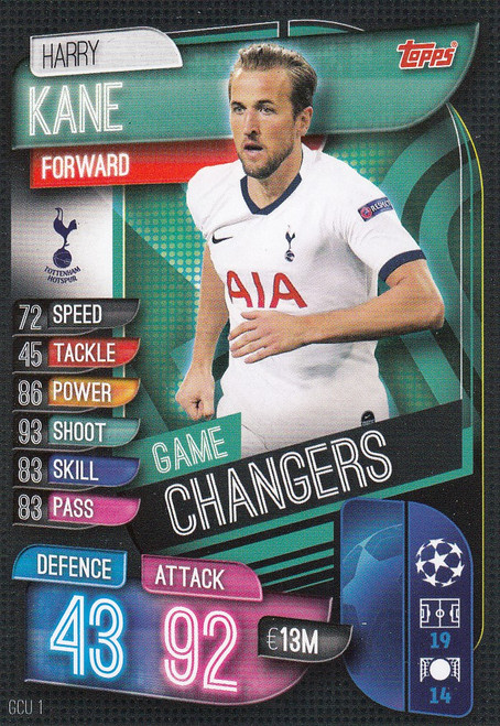 #GCU1 Harry Kane (Tottenham Hotspur) Match Attax Champions League 2019/20 GAME CHANGERS