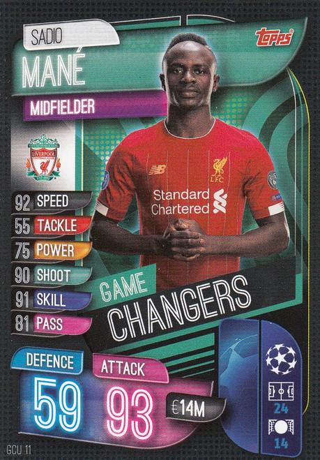 #GCU11 Sadio Mane (Liverpool) Match Attax Champions League 2019/20 GAME CHANGERS