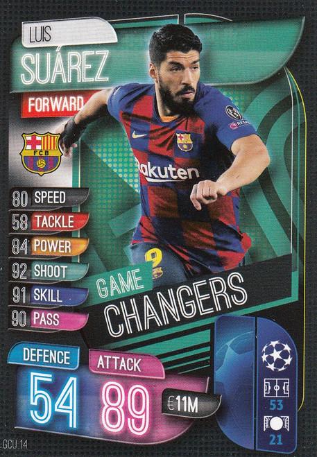 #GCU14 Luis Suarez (FC Barcelona) Match Attax Champions League 2019/20 GAME CHANGERS