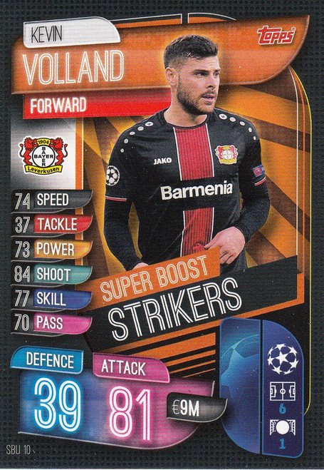 #SBU10 Kevin Volland (Bayer 04 Leverkusen) Match Attax Champions League 2019/20 SUPER BOOST STRIKERS