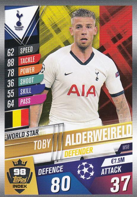 #W98 Toby Alderweireld (Tottenham Hotspur) Match Attax 101 2019/20