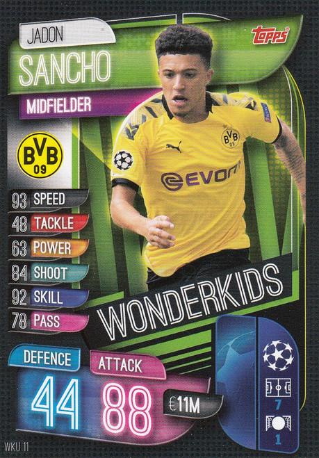 #WKU11 Jadon Sancho (Borussia Dortmund) Match Attax Champions League 2019/20 WONDERKIDS