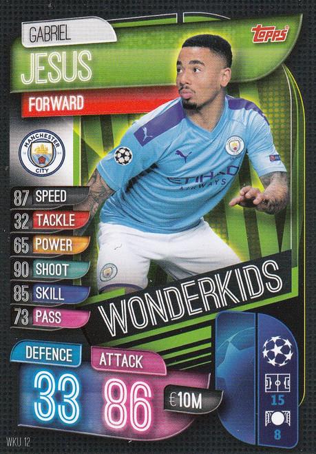 #WKU12 Gabriel Jesus (Manchester City) Match Attax Champions League 2019/20 WONDERKIDS